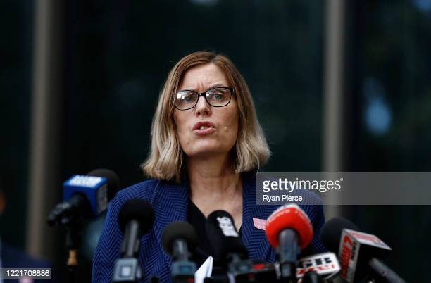 Chief Health Officer Dr Kerry Chant speaks during a media briefing on April 29 2020 in Sydney Australia NSW Premier Gladys Berejiklian has announced...