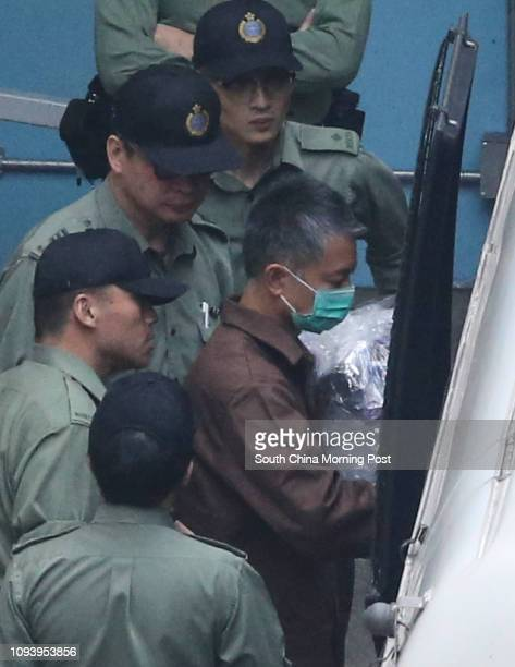 Chief Inspector Wong Choshing in brown prison uniform departs Lai Chi Kok Reception Centre They will be sent to Stanley Prison Tung Tau Correctional...