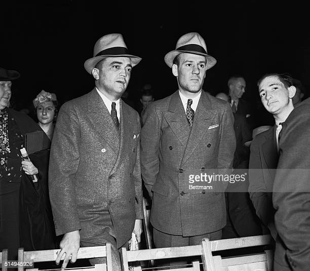 Chief J. Edgar Hoover is shown as he told a Senate Internal Security Subcommittee today that he was notified in February 1947, that Harry Dexter...