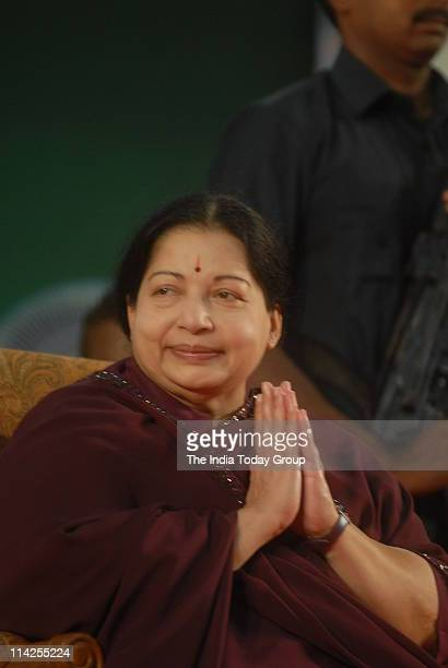 AIADMK chief Jayalalithaa during her swearingin ceremony as Tamil Nadu's Chief Minister in Chennai on Monday May 16 2011