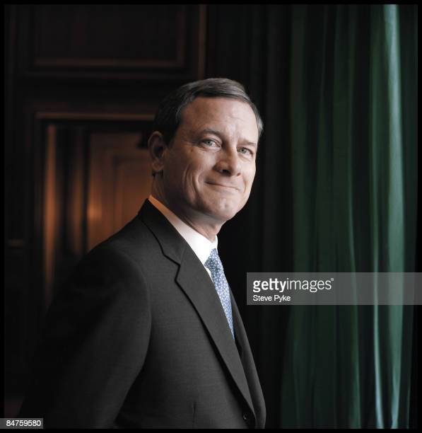 Chief Justice John Roberts poses at a portrait session for Time Magazine in September 2007 in Washington, DC. PUBLISHED IMAGE.
