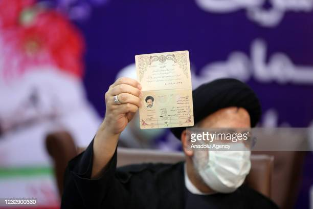 Chief Justice of Iran, Ebrahim Raisi registers his candidacy for Iran's presidential elections, at the Interior Ministry in Tehran, Iran on May 15,...
