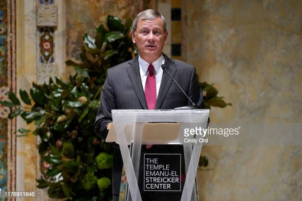 Chief Justice of the United States John G Roberts Jr speaks onstage during A Conversation With Chief Justice Of The United States John G Roberts Jr...