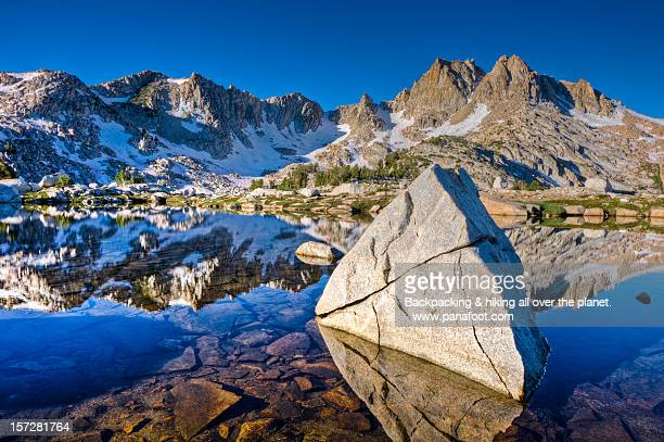 chief lake, john muir trail ca - john muir trail stock photos and pictures