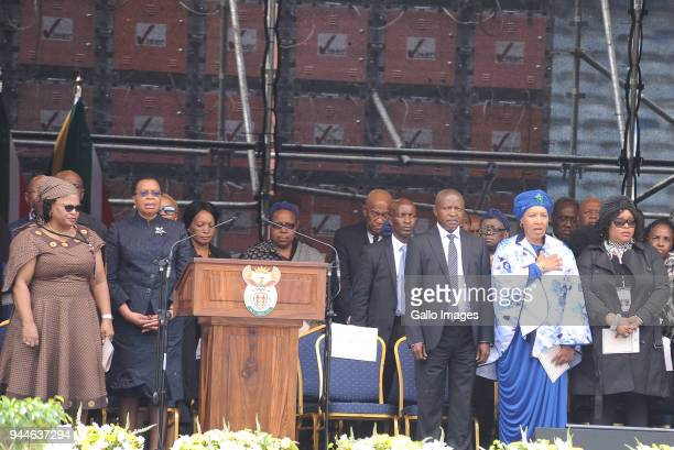 Chief Mangosuthu ButheleziANC TreasurerGeneral Paul Mashatile Nomvula Mokonyane and Former first lady Graca Machel Deputy President David...
