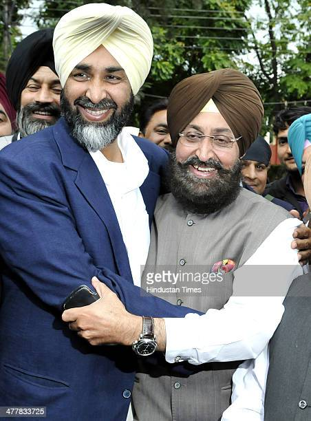 PPP Chief Manpreet Badal and PPCC president Pratap Singh Bajwa at Chandigarh Press Club during press conference announcing alliance between both...