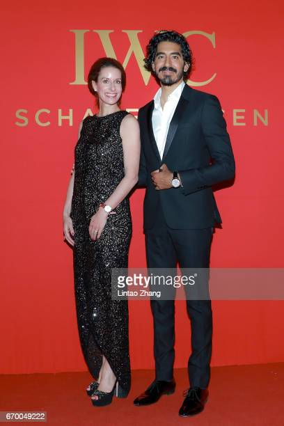 Chief Marketing Officer Franziska Gsell poses for a picture with Actor and IWC Ambassador Dev Patel at the IWC Schaffhausen hosted exclusive 'For the...