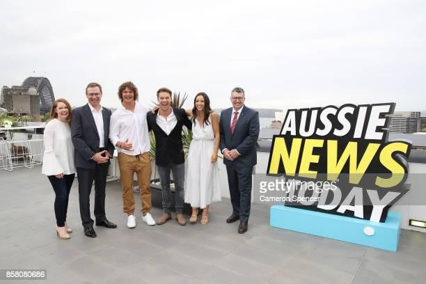 Chief Marketing Officer of Tourism Australia Lisa Ronson Tourism Australia Managing Director John O'Sullivan Nick Cummins Lincoln Lewis Teigan Nash...