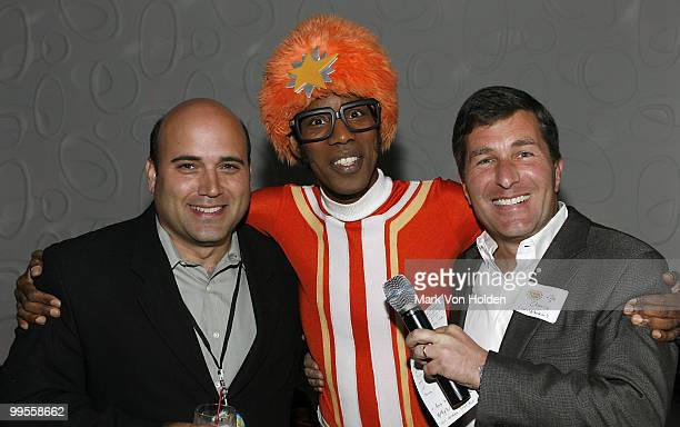 Chief Marketing Officer of Wld Brain Michael Polis DJ Lance and President and CEO of Wld Brain Charlie Rivkin attends the YO GABBA GABBA Licensing...