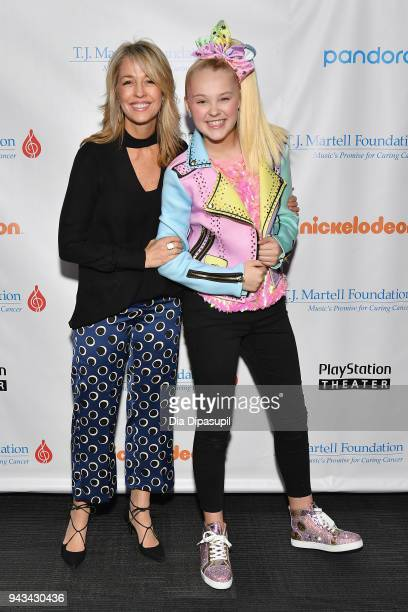 Chief Marketing Officer President of Consumer Products for Nickelodeon Pam Kaufman and JoJo Siwa attend TJ Martell Foundation's 17th Annual New York...