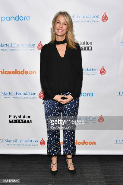 Chief Marketing Officer President of Consumer Products for Nickelodeon Pam Kaufman attends TJ Martell Foundation's 17th Annual New York Family Day at...