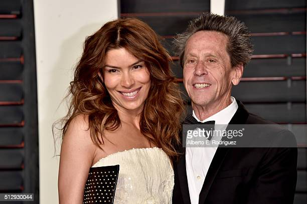 SBE chief marketing officer Veronica Smiley and directorproducer Brian Grazer attend the 2016 Vanity Fair Oscar Party hosted By Graydon Carter at...