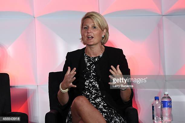 Chief Media and Business Insights Officer, Turner Broadcasting System, Inc. Molly Battin speaks at the 2014 Women in Cable Telecommunications...