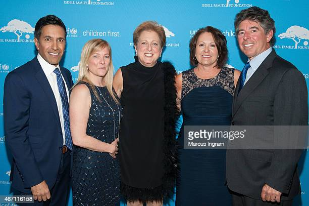Chief Medical Correspondent Dr Sanjay Gupta member of the US Fund for UNICEF Southeast Regional Board Rebecca Gupta President CEO of the US Fund for...