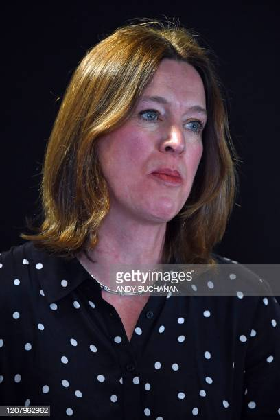 Chief Medical Officer Dr Catherine Calderwood attends a briefing on the novel coronavirus COVID19 outbreak in Edinburgh on March 22 as the UK death...
