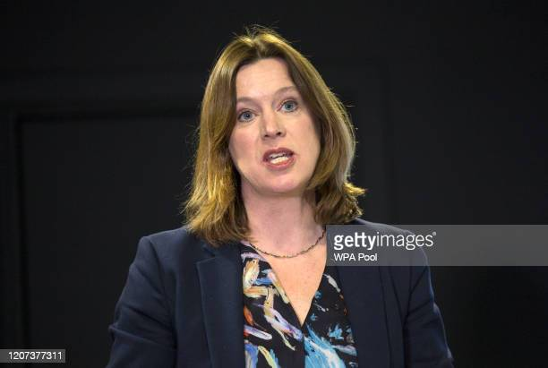 Chief Medical Officer Dr Catherine Calderwood during a media briefing at St Andrew's House on Coronavirus on March 16 2020 in Edinburgh Scotland