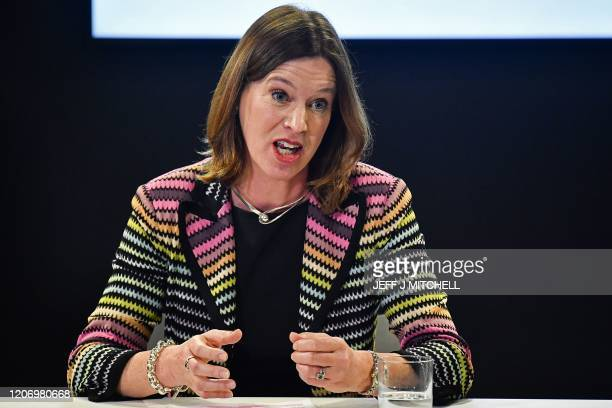 Chief Medical Officer Dr Catherine Calderwood gives a press conference on the COVID19 situation following a COBRA meeting on March 12 2020 in...