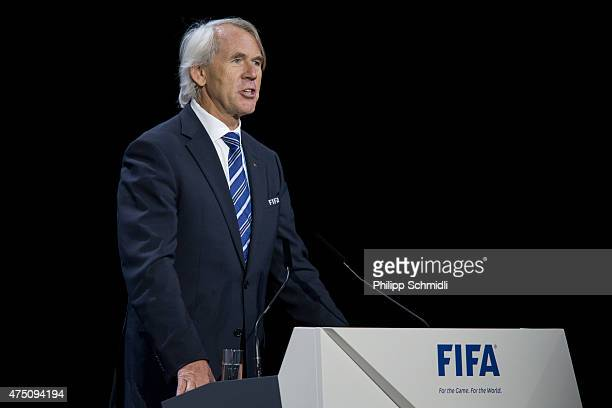 Chief Medical Officer Jiri Dvorak gives a speech during the 65th FIFA Congress at Hallenstadion on May 29 2015 in Zurich Switzerland