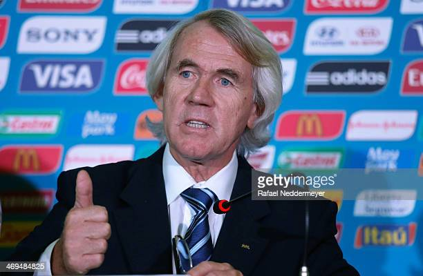 Chief Medical Officer Professor Jiri Dvorak during the 2014 FIFA World Cup Brazil Medical Press Conference is presenting medical matters related to...