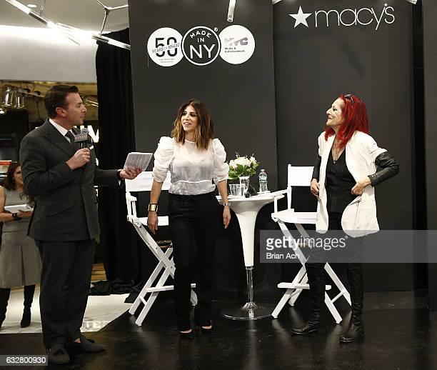 Chief Merchandising Officer at Macy's Tim Baxter costume designer Jacqueline Demeterio and fashion designer Patricia Field speak as Macy's celebrates...