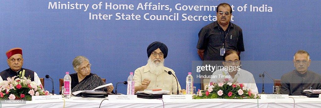 Chief Minister Himachal Pradesh Prem Kumar Dhumal Delhi Chief Minister Sheila Dikshit CM Punjab Parkash Singh Badal Union Minister of Home Affairs P..