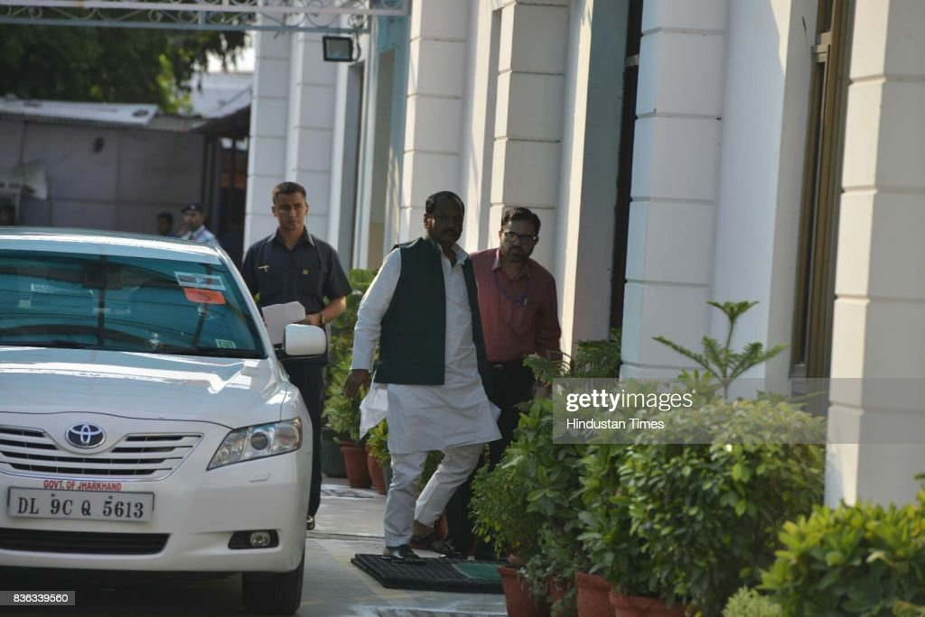 Chief Minister of Jharkhand Raghubar Das and Deputy Chief Minister Sushil Kumar Modi during a meeting of PM Narendra Modi with BJP Chief Ministers at BJP office on August 21, 2017 in New Delhi, India.