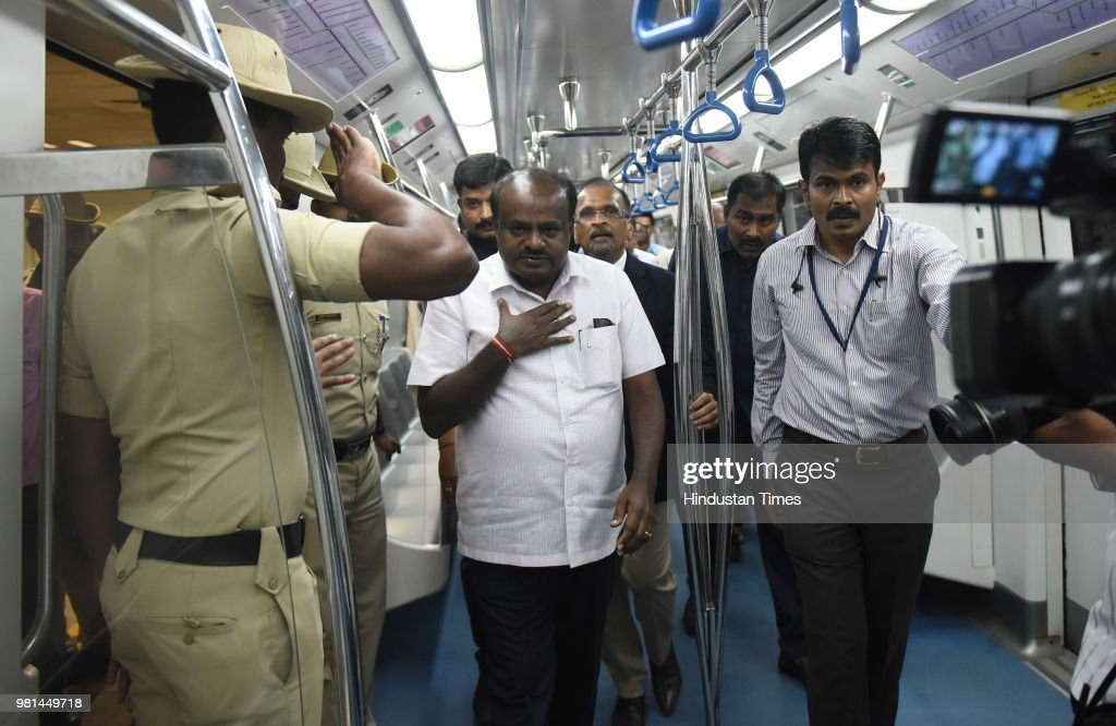 Karnataka Chief Minister HD Kumaraswamy To Flags Off First Six-Coach Metro Train