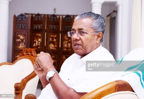 Chief Minister of Kerala Pinarayi Vijayan photographed in Delhis Kerala house