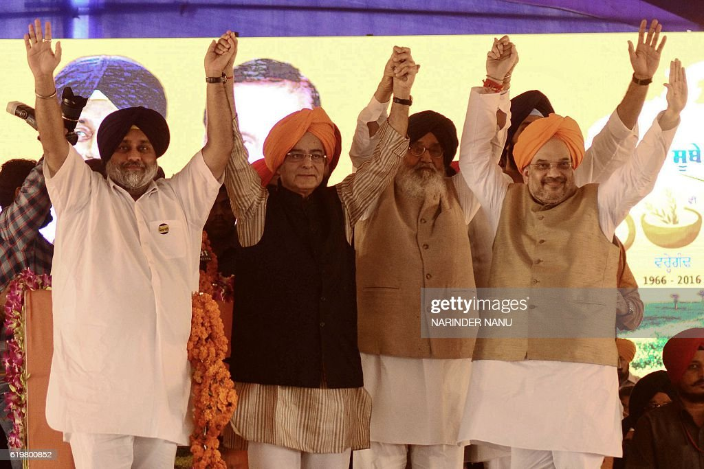 Chief Minister of the northern state of Punjab Parkash Singh Badal Punjab Deputy Chief Minister Sukhbir Singh Badal Finance Minister Arun Jaitley and.