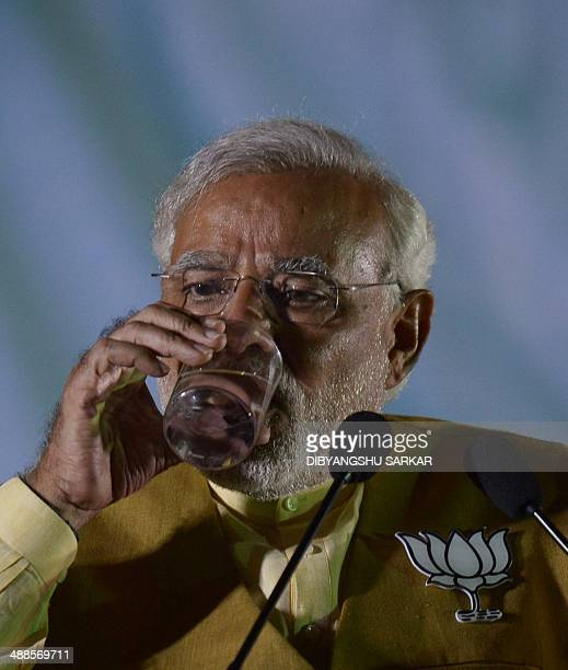 Chief Minister of the western Indian state of Gujarat and India's main opposition Bharatiya Janata Party prime ministerial candidate Narendra Modi...