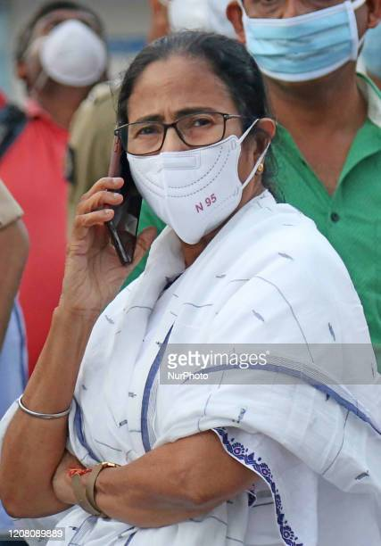 Chief Minister of West Bengal Mamata Banerjee along Kolkata Police Commissioner Anuj Sharma today Visit Government and Privet hospital and distribute...