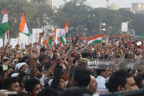 Chief minister of West Bengal state and Supremo of the Trinamool Congress Political Party Mamata Banerjee address and Protestors part in the rally...
