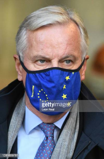 Chief Negotiator Michel Barnier arrives at St Pancras Station ahead of the resumption of Brexit negotiations between the European Union and the...