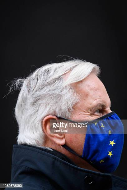 Chief negotiator Michel Barnier walks to his hotel during a break in talks on October 28 2020 in London England The talks between EU Chief Negotiator...