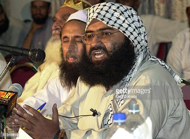Chief of a religious party JaisheMohammad Maulana Masood Azhar a militant released from an Indian jail in 1999 in exchange for Indian airliner...