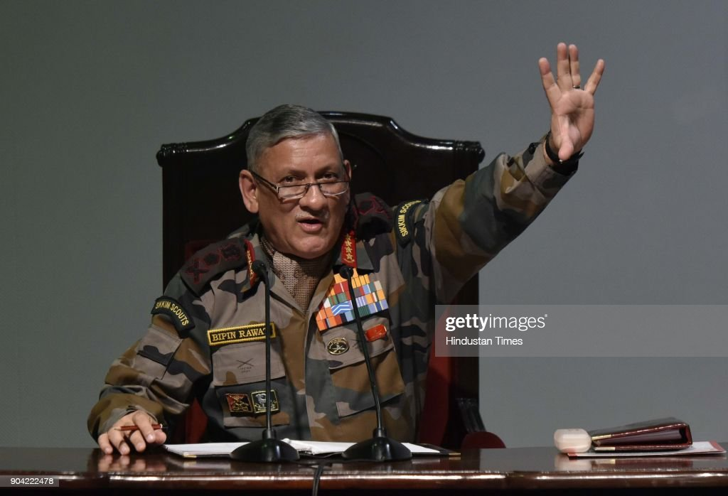 Annual Press Conference Of Chief of the Army Staff General Bipin Rawat : News Photo