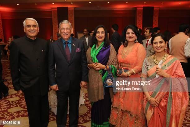 Chief of Army Staff General Bipin Rawat during wedding reception of Congress leader Vivek Tankha's daughter Vasundhara and soninlaw Shiv Sharma at...