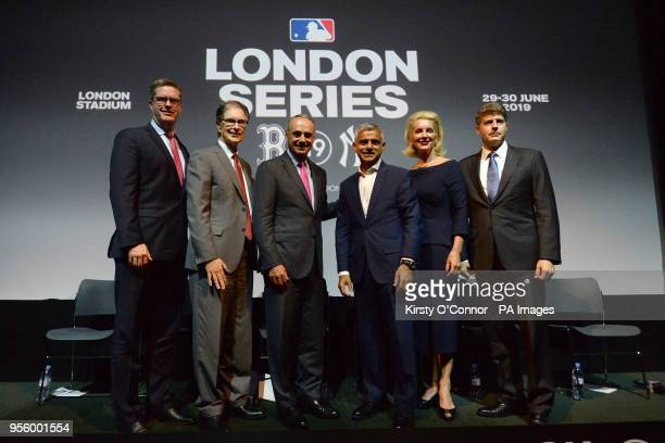 Chief of Business Affairs for the MLBPA Tim Slavin Boston Red Sox joint owner John W Henry MLB Commissioner Rob Manfred Mayor of London Sadiq Khan...