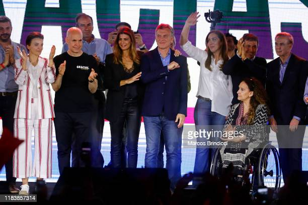 Chief of Cabinet Marcos Peña, Barbara Diez, Mayor of Buenos Aires Horacio Rodriguez Larreta, First Lady Juliana Awada, President and candidate for...