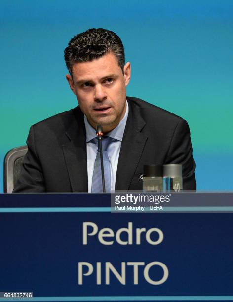 Chief Of Communications And Media Pedro Pinto During A Press Conference Following The St Ordinary Uefa