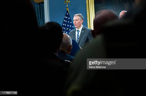 Chief of Detectives Dermot Shea attends a press conference announcing that will be the new NYPD Commissioner taking the position of James O'Neill on...