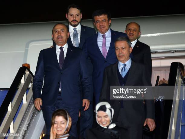 Chief of General Staff of Turkey Hulusi Akar Turkish Foreign Minister Mevlut Cavusoglu Turkish Minister of Energy and Natural Resources Berat...
