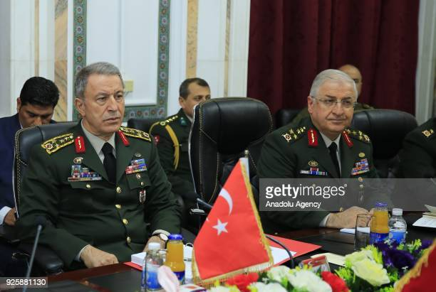 Chief of General Staff of Turkish Armed Forces Gen Hulusi Akar and Iraqi Army Chief of Staff Gen Othman alGhanimi hold interdelegation meeting in...