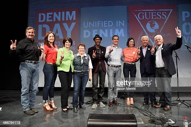 Chief of LAPD Charlie Beck Peace Over Violence's Britni Soto Congresswoman Lucille RoybalAllard Denim Day Founder and Peace Over Violence Executive...