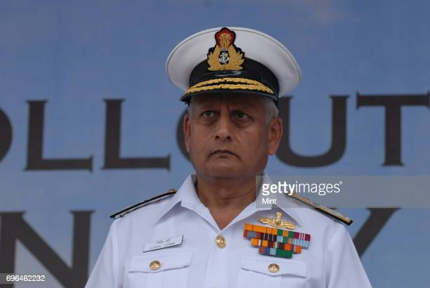 Chief of Naval Staff Admiral Nirmal Verma during the Roll out function of LCA NAVY Trainer at HAL ARDC design Hangar