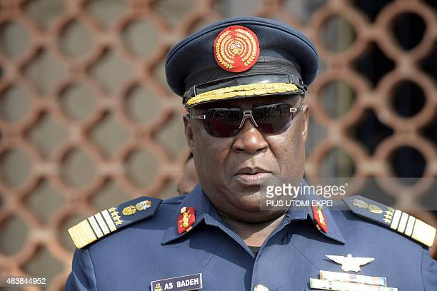 Chief of Nigerian defence staff Air Chief Marshall Alex Badeh attend the commissioning ceremony of the NNS Centenary an offshore patrol vessel built...