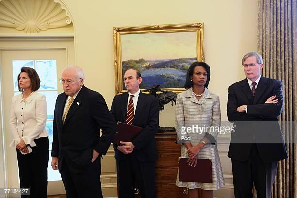 Chief of Protocol Nancy Brinker US Vice President Dick Cheney Elliott Abrams Deputy Assistant to the President and Deputy National Security Advisor...