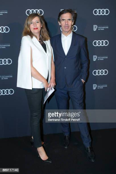 Chief of Protocol of La philarmonie de Paris Angela Giehr and Predident of La Philarmonie de Paris Laurent Bayle attend 'The Celebration of Gabriel...