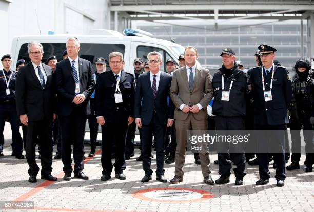 Chief of Protocol of the Foreign Office Juergen Christian Mertens Head of International Support BKA Steffen Russ Federal police officer Thomas...