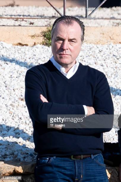 Chief of sports Clemens Toennies of FC Schalke 04 looks on during the FC Schalke 04 winter training camp on January 06, 2020 in Fuente Alamo near...